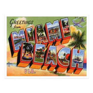 Vintage Miami Beach Postcard