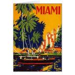 Vintage Miami, Florida, USA - Greeting Card