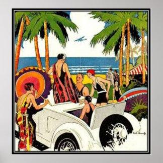 Vintage Miami, Florida, USA - Poster