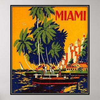 Vintage Miami, Florida, USA - Print