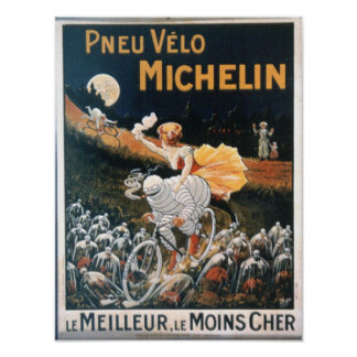 Vintage Michelin Man Poster
