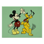 Vintage Mickey Mouse and Pluto Poster