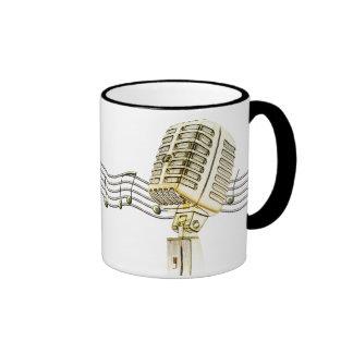 Vintage Microphone Design Coffee Mugs
