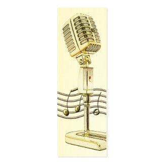 Vintage Microphone Mini Profile Card Business Cards