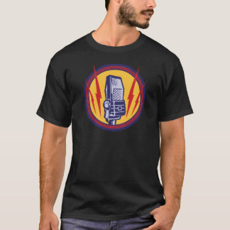 Vintage microphone shirt