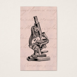 Vintage Microscope Illustration Pink Steampunk