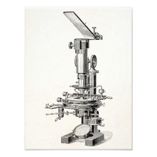 Vintage Microscope Illustration Retro Microscopes Photographic Print