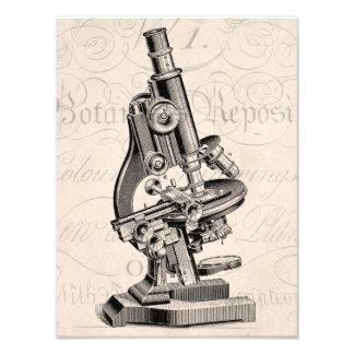 Vintage Microscope Illustration Retro Steampunk Photograph