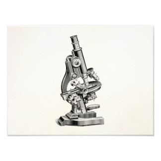 Vintage Microscope Illustration Retro Steampunk Photographic Print