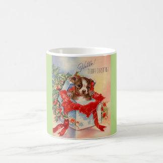 Vintage Mid Century Beautiful Baby Boston Terrier Coffee Mug