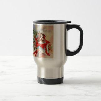 Vintage Mid Century Beautiful Baby Boston Terrier Travel Mug