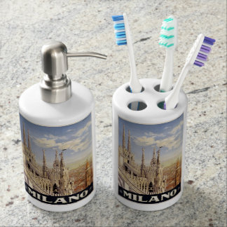 Vintage Milano Italy bathroom set