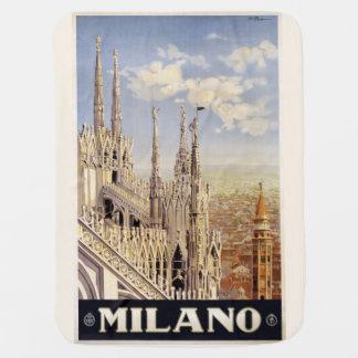 Vintage Milano Milan Italy baby blanket