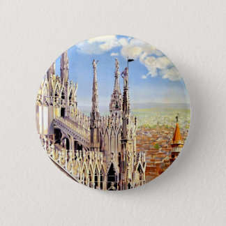 Vintage Milano Travel 6 Cm Round Badge