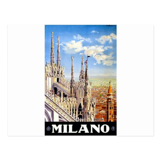 Vintage Milano Travel Postcard