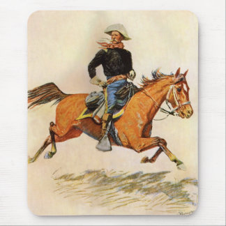 Vintage Military, A Cavalry Officer by Remington Mouse Pad