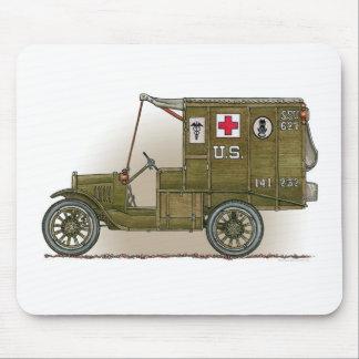Vintage Military Ambulance Mouse Mat