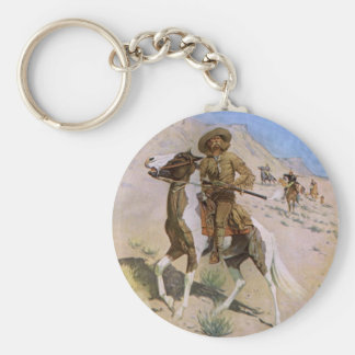 Vintage Military Cowboys, The Scout by Remington Key Ring