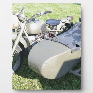 Vintage Military Motorcycle Combination Photo Plaques