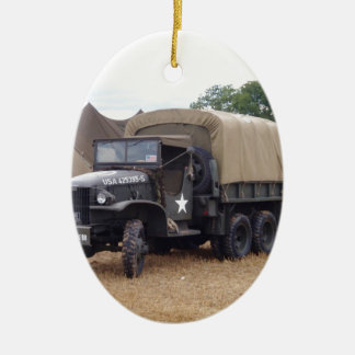 Vintage Military Truck Christmas Ornament