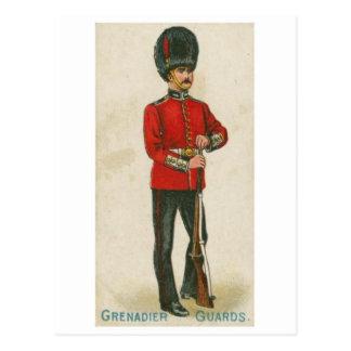 Vintage Military Uniform Postcard