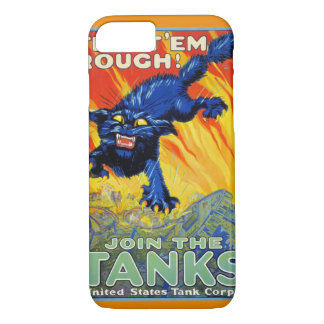 Vintage Military War Advertising with a Wild Cat iPhone 7 Case