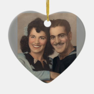 Vintage Military Wedding Christmas Ornament