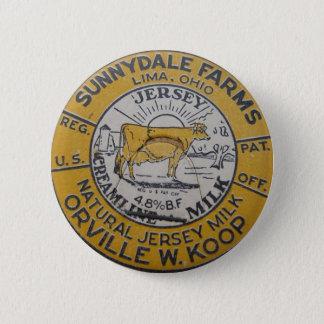 Vintage Milk Bottle Cap Lima Ohio Dairy Sunnydale 6 Cm Round Badge