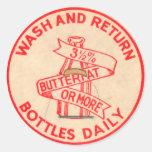Vintage Milk Bottle Cap Sticker