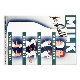 Vintage Milk for Health WPA Poster Photo Art