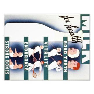 Vintage Milk for Health WPA Poster Photo
