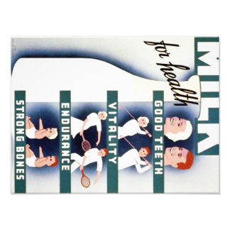 Vintage Milk for Health WPA Poster Photograph