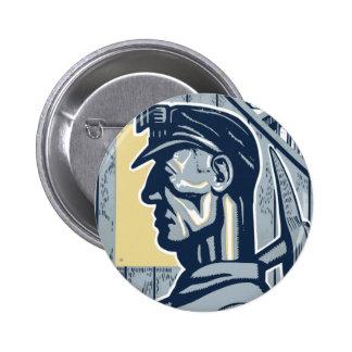 Vintage Miner Art 6 Cm Round Badge