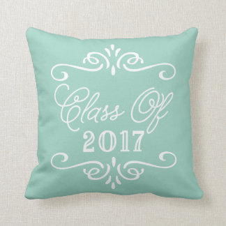 Vintage Mint Green | Graduation Throw Pillow
