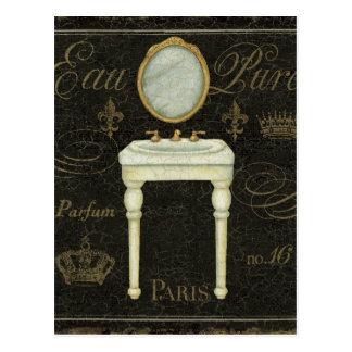 Vintage Mirror and Sink Postcard