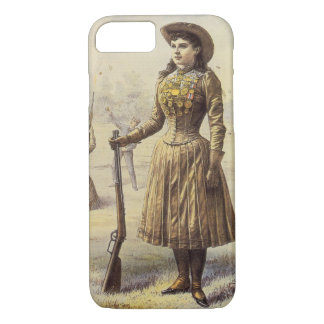 Vintage Miss Annie Oakley, Western Cowgirl iPhone 8/7 Case