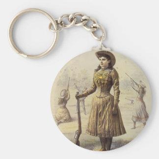 Vintage Miss Annie Oakley, Western Cowgirl Key Ring
