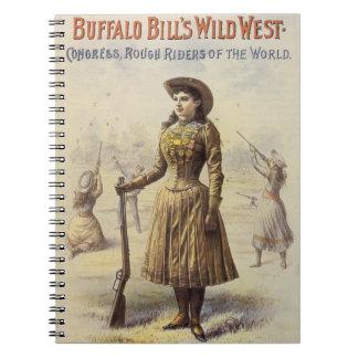 Vintage Miss Annie Oakley, Western Cowgirl Notebook