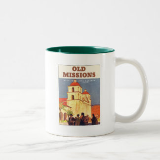 Vintage Missions Santa Barbara Two-Tone Coffee Mug