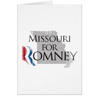 Vintage Missouri for Romney.png Greeting Card