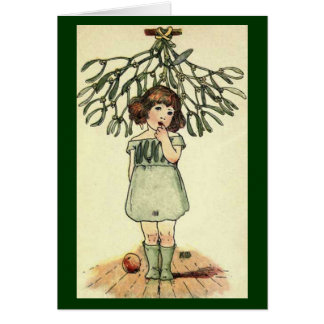 Vintage - Mistletoe Illustration Card