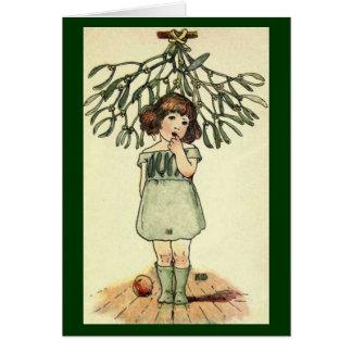 Vintage - Mistletoe Illustration Greeting Card