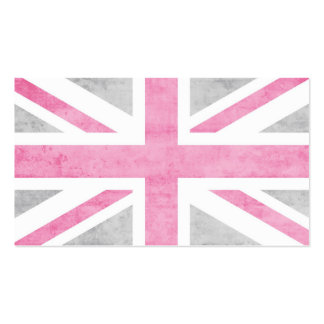 Vintage Mod Union Jack Double-Sided Standard Business Cards (Pack Of 100)