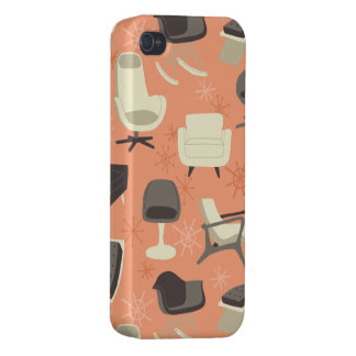 Vintage Modern Chairs Pattern Case iPhone 4 Cover