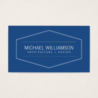Vintage Modern Emblem Architect, Builder Business Card