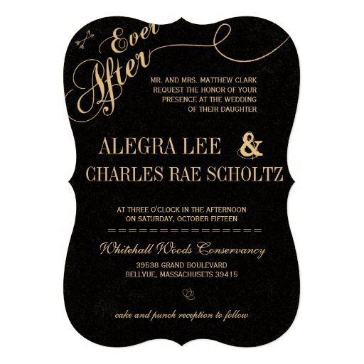 Vintage Modern Ever After Chalkboard Invitation