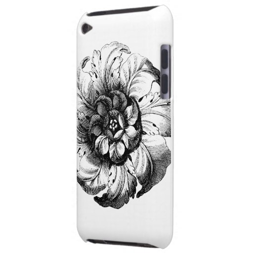 Vintage Modern Flower Design in Black and White Case-Mate iPod Touch Case