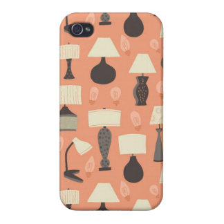 VIntage Modern Lamps Pattern Case iPhone 4/4S Cover