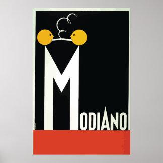 Vintage Modiano Cigarette Paper Poster