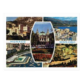 Vintage Monaco, Montecarlo Multiview Postcard
